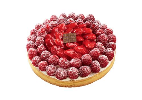 tarte framboises fraises chantilly