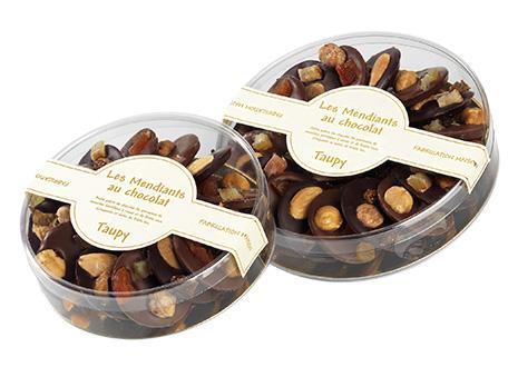 mendiants chocolat taupy